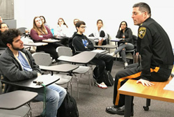 Sheriff in the classroom